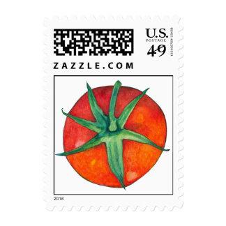 Sello rojo del tomate