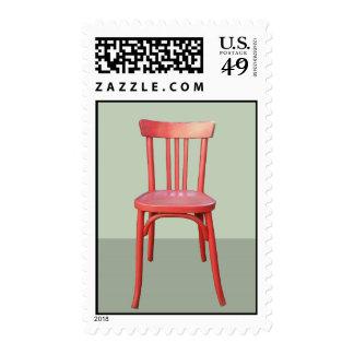 Sello rojo del verde de la silla