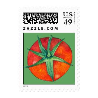 Sello rojo del verde del tomate
