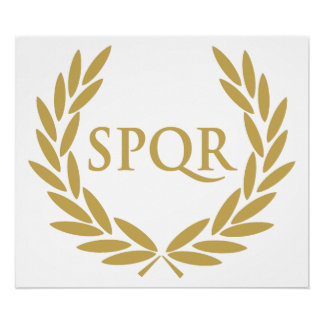 Sello romano del senado de Roma SPQR Impresiones