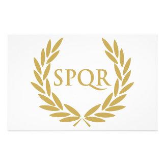 Sello romano del senado de Roma SPQR Papelería De Diseño