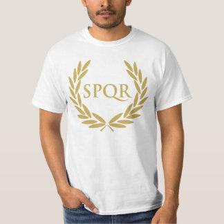 Sello romano del senado de Roma SPQR Playera