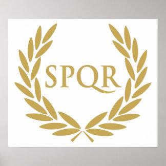 Sello romano del senado de Roma SPQR Póster