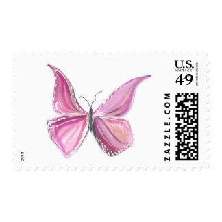 Sello rosado de la mariposa