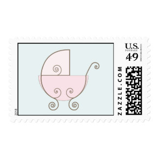 Sello rosado del carro de bebé