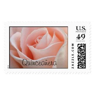 Sello rosado del rosa de Quinceañera