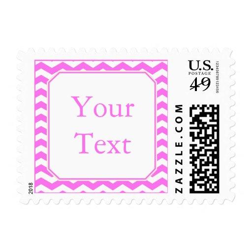 Sello rosado moderno con el texto de encargo