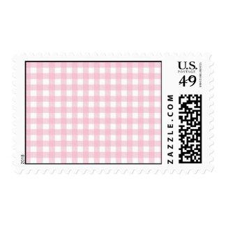 sello rosado y blanco de la tela escocesa de la gu