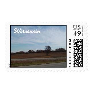 Sello rural del poste de Wisconsin