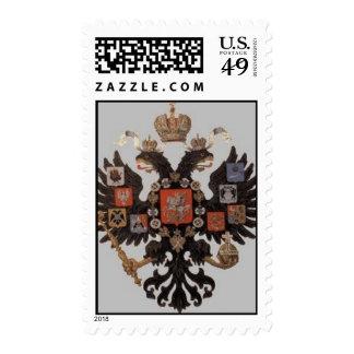 Sello ruso imperial del escudo