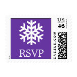 Sello solitario del copo de nieve (b) (púrpura de