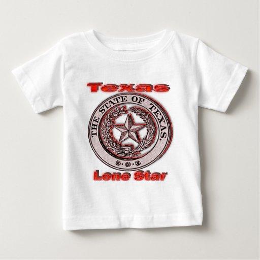 Sello solitario del estado de la estrella de Tejas T-shirt