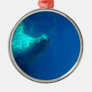 Sello subacuático ornaments para arbol de navidad