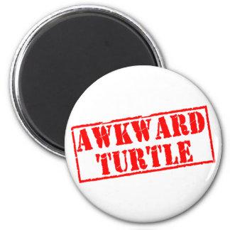 Sello torpe de la tortuga imanes para frigoríficos