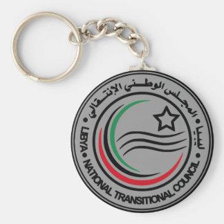 sello transitorio del consejo de Libia Llavero Redondo Tipo Pin
