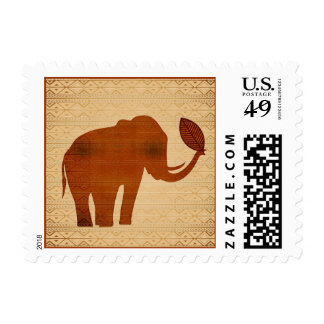 Sello tribal del diseño del arte del elefante