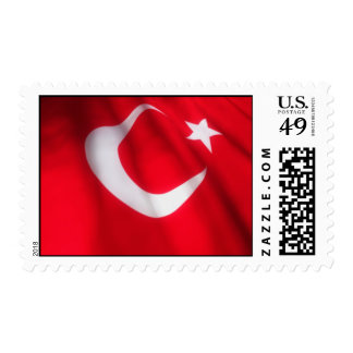 Sello turco de la bandera que agita
