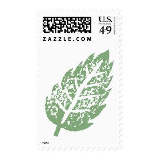 Sello verde de la hoja