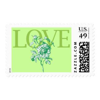"Sello verde del ""amor"" de la primavera"