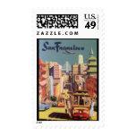 Sello-Vintage Viaje-San Francisco Franqueo