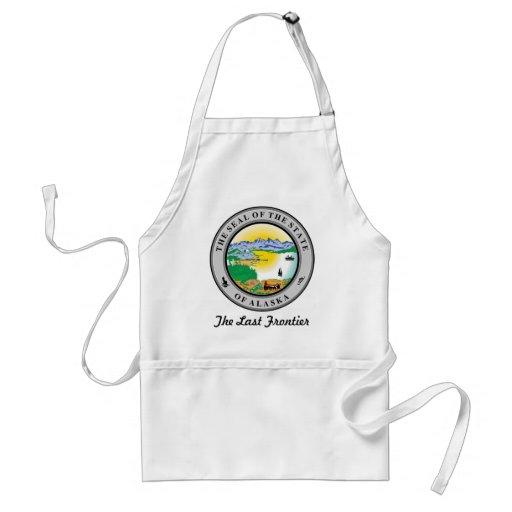 Sello y lema del estado de Alaska Delantal