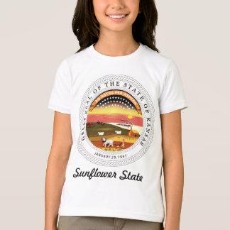 Sello y lema del estado de Kansas Poleras