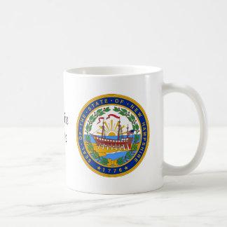 Sello y lema del estado de New Hampshire Taza De Café