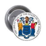 Sello y lema del estado de New Jersey Pins