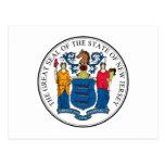 Sello y lema del estado de New Jersey Postal