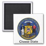 Sello y lema del estado de Wisconsin Imanes De Nevera
