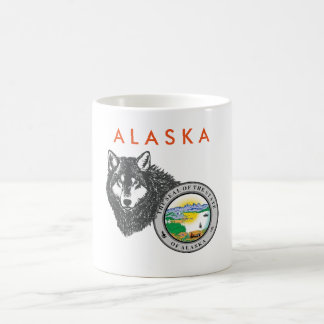 SELLO y LOBO DE ALASKA - taza de ALAKAN