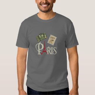 Sello y torre Eiffel lindos del equipaje de París Remeras