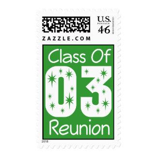 Sellos 2003 de la reunión de antiguos alumnos