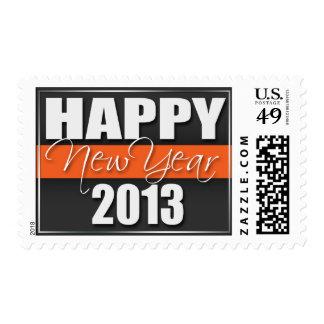 Sellos 2013 anaranjados de la Feliz Año Nuevo de l