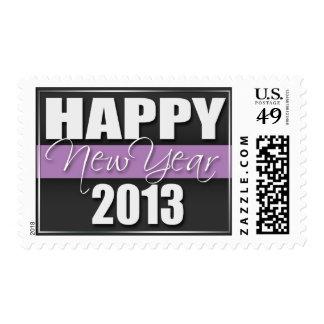 Sellos 2013 púrpuras de la Feliz Año Nuevo de la r