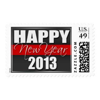 Sellos 2013 rojos de la Feliz Año Nuevo de la raya