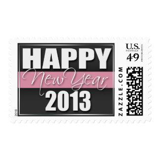 Sellos 2013 rosados de la Feliz Año Nuevo de la ra