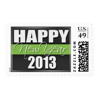 Sellos 2013 verdes de la Feliz Año Nuevo de la ray