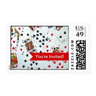 Sellos adaptables del tema del juego de tarjeta