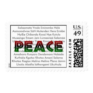 Sellos africanos de la paz de las idiomas