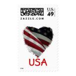 Sellos americanos de la bandera del corazón