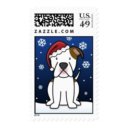 Sellos americanos del navidad del dogo de Kawaii