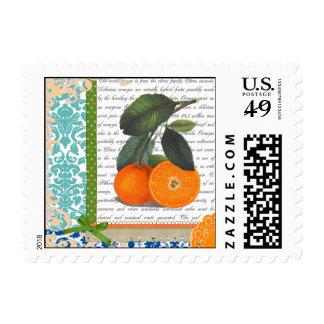 Sellos anaranjados de la fruta de la Florida del v