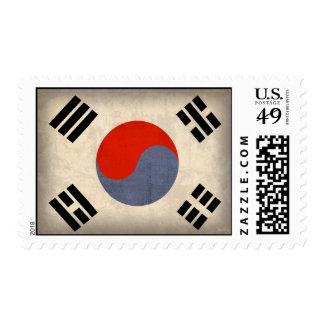 Sellos apenados bandera de la Corea del Sur