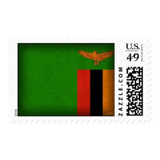 Sellos apenados bandera de Zambia