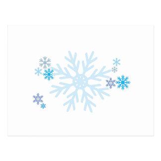 Sellos azules blancos de la invitación del navidad postal