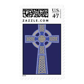Sellos azules de la cruz céltica