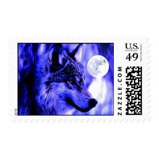 Sellos azules de la noche, del lobo y de la Luna L