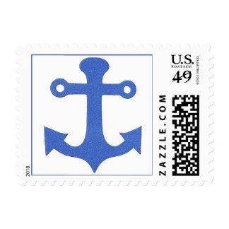 Sellos azules de los marineros de los navegantes d