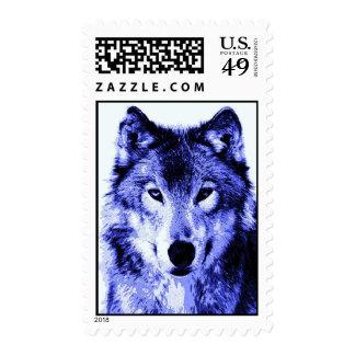 Sellos azules del retrato del lobo